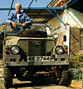 Keith and his Land Rover Lightweight